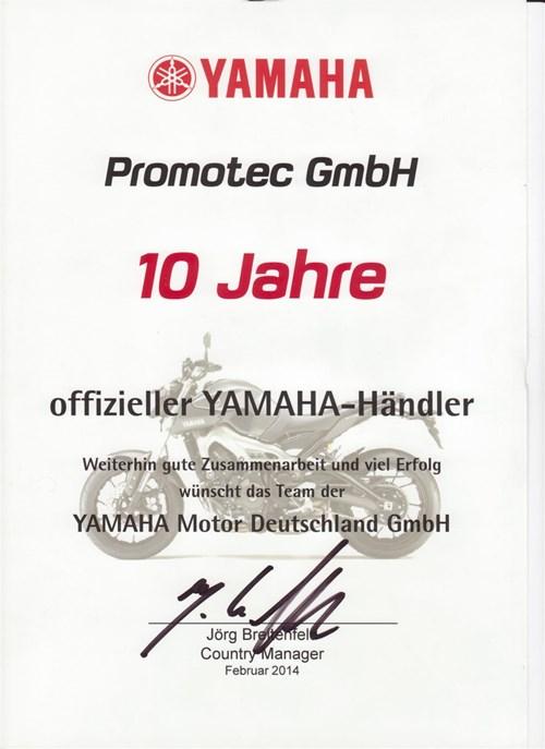 10 Jahre Yamaha