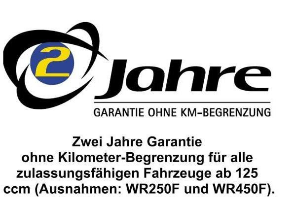 Garantie für Gebrauchtmotorräder und erweiterte Garantie für Neufahrzeuge Wir bieten sowohl für Neufahrzeuge als auch für Gebrauchte diverse Garantievarianten. Bei Neufahrzeugen bieten wir für Yamaha-Fahrzeuge unter 250 ccm eine We...