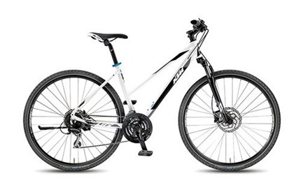 KTM Life Track 24  Life Track 24 Disc M DA 46Material: AluRahmengröße: 46cmFarbe: weiß Schaltwerk: AceraGesamtgewicht von 14,6 kg