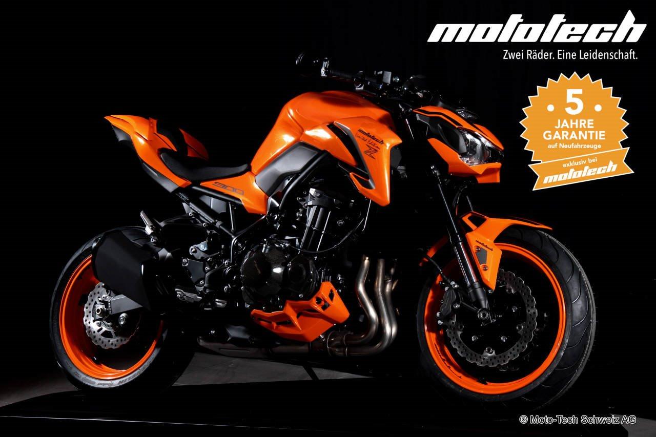 Neumotorrad Kawasaki Z900 2018 WILDFIRE 35 92kW Baujahr 2017