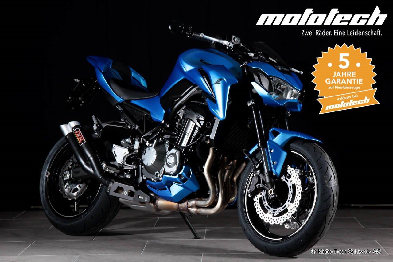 Neumotorrad Kawasaki Z900 2018 PEARLBLUE 35 92kW Baujahr 2017