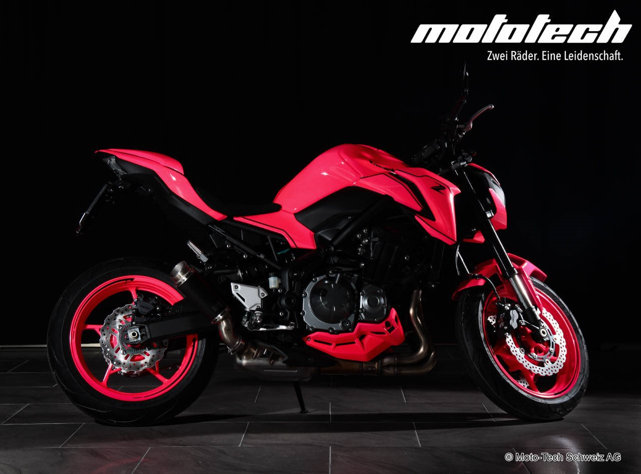 neumotorrad kawasaki z900 2018 pink by mototech 35 92kw. Black Bedroom Furniture Sets. Home Design Ideas