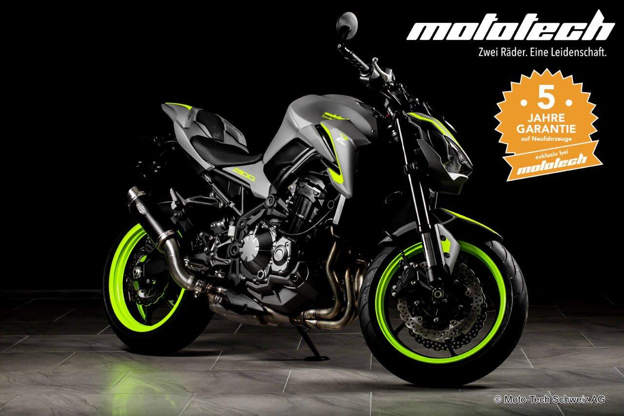 Neumotorrad Kawasaki Z900 2018 SPACEGRAY NEON 35 92kW Baujahr