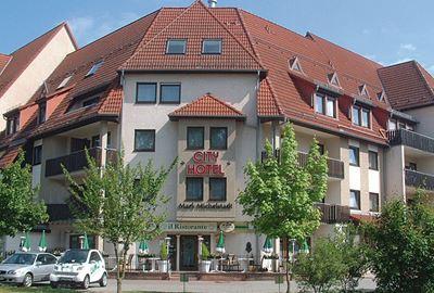 Motorrad Hotel City Hotel Mark Michelstadt