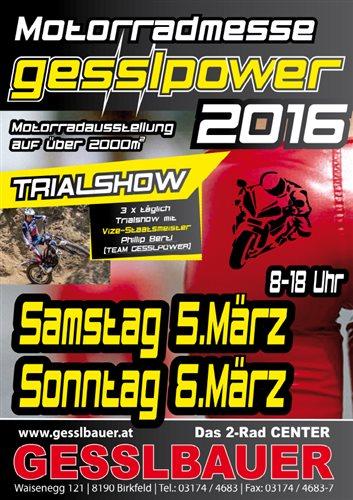 Motorradmesse Gesslbauer 5. und. 6. März 2016