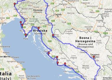 Motorrad Tour Sarajevo Dubrovnik Küstenstrasse