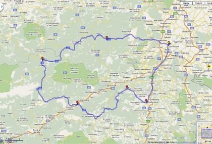 Motorrad Tour Wiener Neustadt - Mariazell - Veitsch - Wechsel