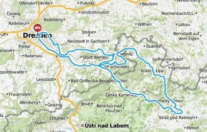 Motorrad Tour Dresden > Höllengruben [CZ] (Bikerhöhle)