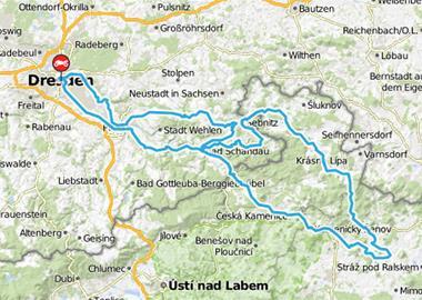 Motorrad Tour Dresden > Höllengruben / Pekelne Doly [CZ] (Bikerhöhle)