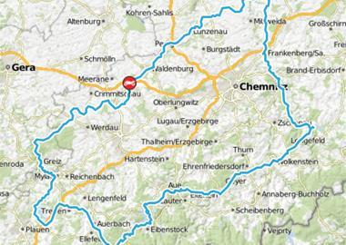Motorrad Tour westsächsische Talsperrentour