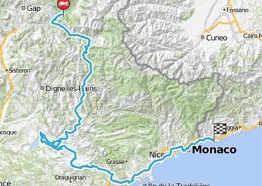 Motorrad Tour 8-Tage-Tour - Tag 3 - Savines-le-Lac (F) > Vallecrosia (I)