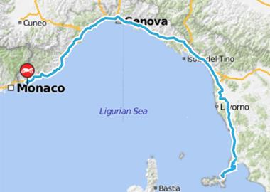 Motorrad Tour 8-Tage-Tour - Tag 4 - Vallecrosia (I) > Elba (I)