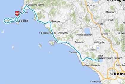 Motorrad Tour 8-Tage-Tour - Tag 5 - Elba (I) > Rom (I)