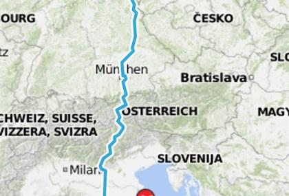 Motorrad Tour 8-Tage-Tour - Tag 8 - Rimini (I) > GC (D)