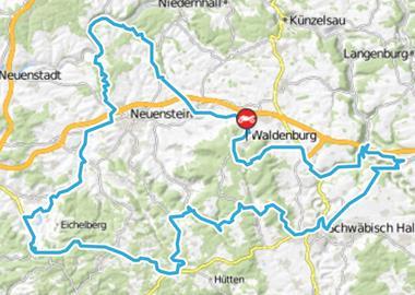 Motorrad Tour Waldenburg - Kochertalbrücke