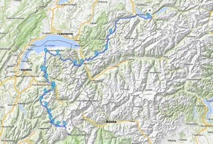 Motorrad Tour Alpen 2002 - [TAG 4] - Pässe: Frankreich / Schweiz