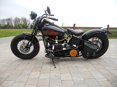 umgebautes motorrad harley davidson early shovel vom typ klassiker. Black Bedroom Furniture Sets. Home Design Ideas
