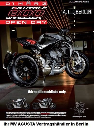 "MV Agusta ""Dragster Open Day"" am 01.03.2014!"