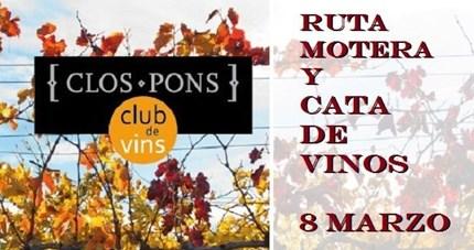 Ruta Motera y cata vinos Bodegas Clos Pons / (Ekke Motor/Benimoto) Nuestro amigos de EKKE MOTOR nos proponen la primera salida del año, UnaCata de vinos y pequeño almuerzo en lasBodegas Clos Pons, aquí os dejamo...