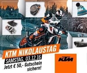 Nikolaustag 2016 Wir laden Sie am Samstag den 3.12.2016 von 9-14h herzlich zum Nikolaustag ein.Bei Glühwein, Punsch und Lebkuchen erwarten Sie attraktive KTM & Kawa...