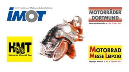 MOTORRADMESSEN 2017 Nutzen Sie die perfekte Gelegenheit, um sich auf die neue Saison einzustimmen: Auf den Motorradmessen in Leipzig, München, Hamburg und Dortmund. Mo...