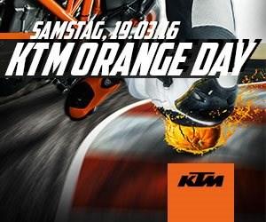 KTM Orange Day am 19. März 2016 Erleben Sie die aktuellen Modelle von KTM am 19. März 2016 beim jährlichen KTM Orange Day!Wir freuen uns auf Ihren Besuch!