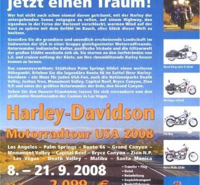 Harley Davidson Tour 14 Tage USA