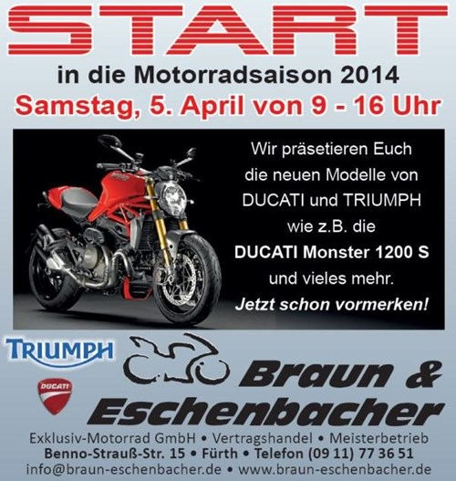 Saisonstart am 05. April 2014