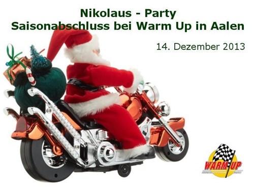 Nikolaus Party – - Saisonabschluss bei Warm Up in Aalen