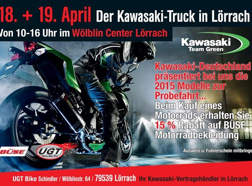 KAWASAKI Truck in Lörrach!