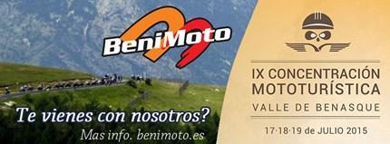 IX CONCENTRACION MOTOTURISTICA VALLE DE BENASQUE El 17, 18,19 de julio se celebra la IX CONCENTRACIÓN MOTOTURÍSTICA VALLE DE BENASQUEcon muchas actividades para los asistentes, Benimoto organizar...