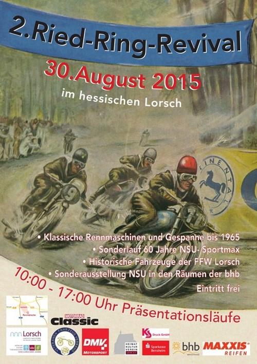 2. Ried Ring Revival 29.+30.08.2015 in Lorsch - Oldtimer Rennen mit Ausstellung