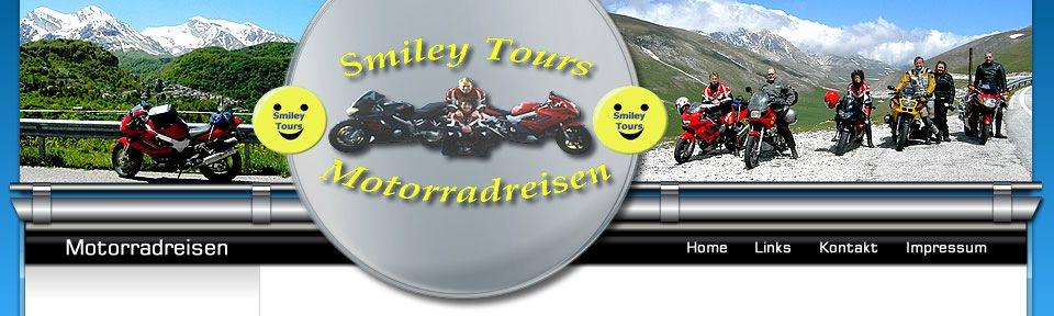 smiley tours die adresse f r die sch nsten motorradtouren. Black Bedroom Furniture Sets. Home Design Ideas