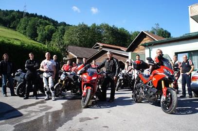 Motorrad Termin Ducati Ausfahrt nach Saalbach-Hinterglemm