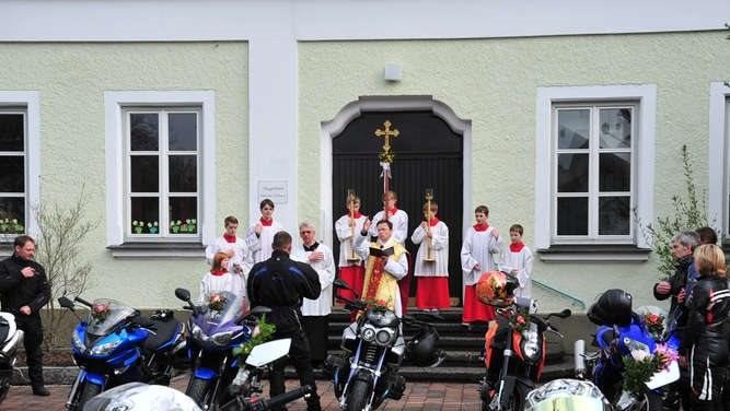 Motorradweihe in Ortenburg - Wir sind dabei