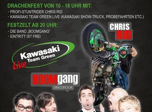 40 Jahres Kawasaki Südhessen und Kawasaki Drachenfest 2016