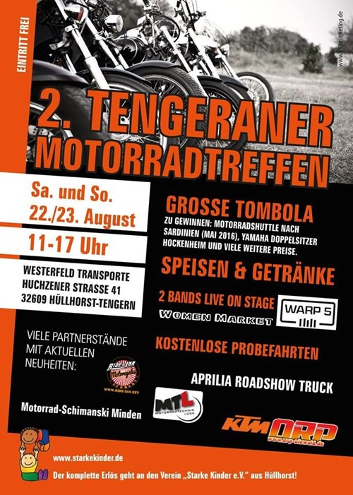 2.Tengeraner Motorradtreffen der APRILIA MOTO LIVE TOUR-TRACK!