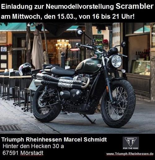 Neumodellvorstellung Scrambler am 15.03.2017 von 16 - 21 Uhr