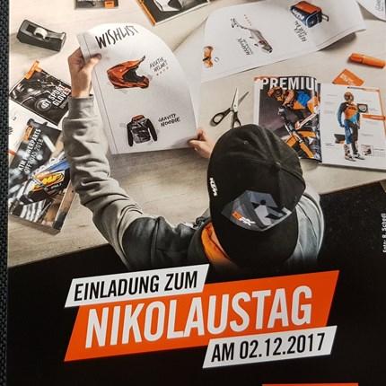 KTM Nikolaustag 2017 Alle Jahre wieder!! Wir veranstalten am SA 02.12.2017 von 09.00 - 16.00 Uhr den KTM Nikolaustag.Highlights:* KTM PowerWear 2018* KTM Modelle 2018* ...