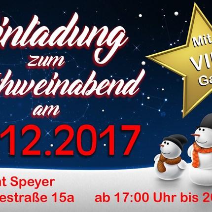 Glühweinabend mit VIP Gast am 19.12.17 Gerne möchten wir Sie am 19.12.2017 ab 17 Uhr bis 20 Uhr zu unserem Glühweinabend einladen.Als Überraschung wartet ein VIP Gast an diesem Abend auf...