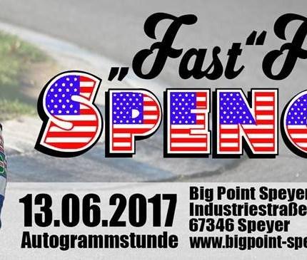 """Fast Freddie Spencer bei Big Point Speyer Der dreifache Motorrad-Weltmeister """"Fast"""" Freddie Spencer kommt am Dienstag, den 13. Juni 2017 zwischen 15 und 18 Uhr zu Honda-Motorradvertragshänd..."""