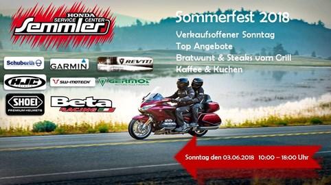 Motorrad Termin Honda Semmler - Sommerfest 2018