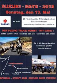 Motorrad Termin SUZUKI - Probefahrten - Bikergottesdienst