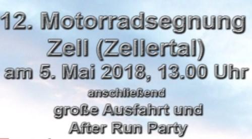 Motorradsegnung in Zell (Zellertal)