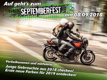 Motorrad Termin September-Fest 2018