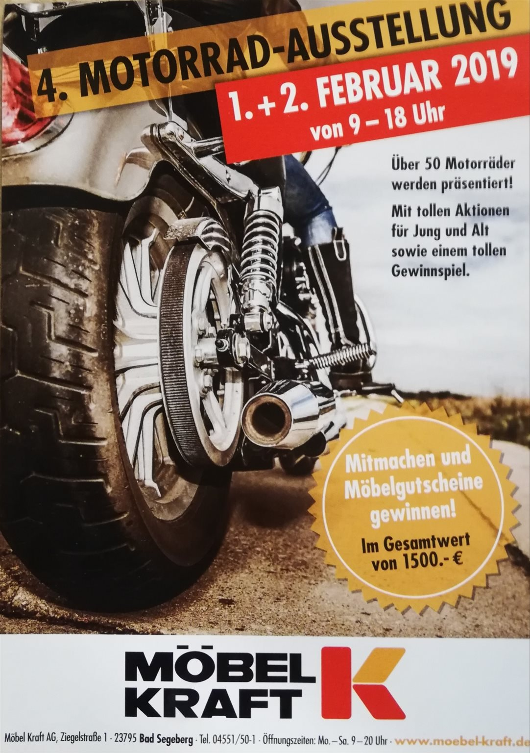 4 Motorrad Ausstellung Möbel Kraft