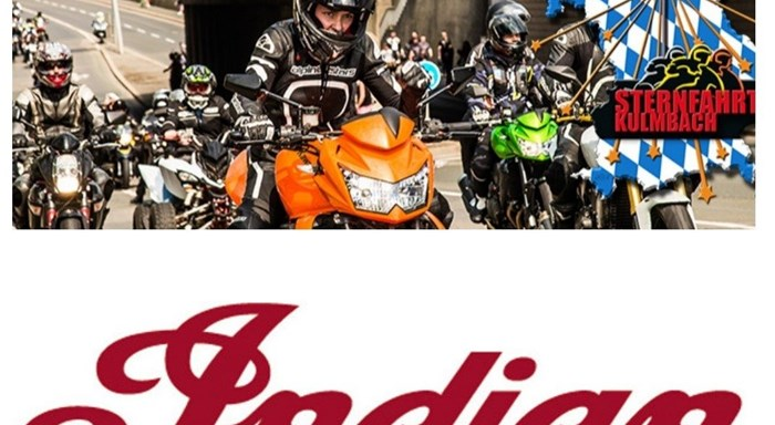 Bike Event / Sternfahrt mit Ausstellung der INDIAN Bikes