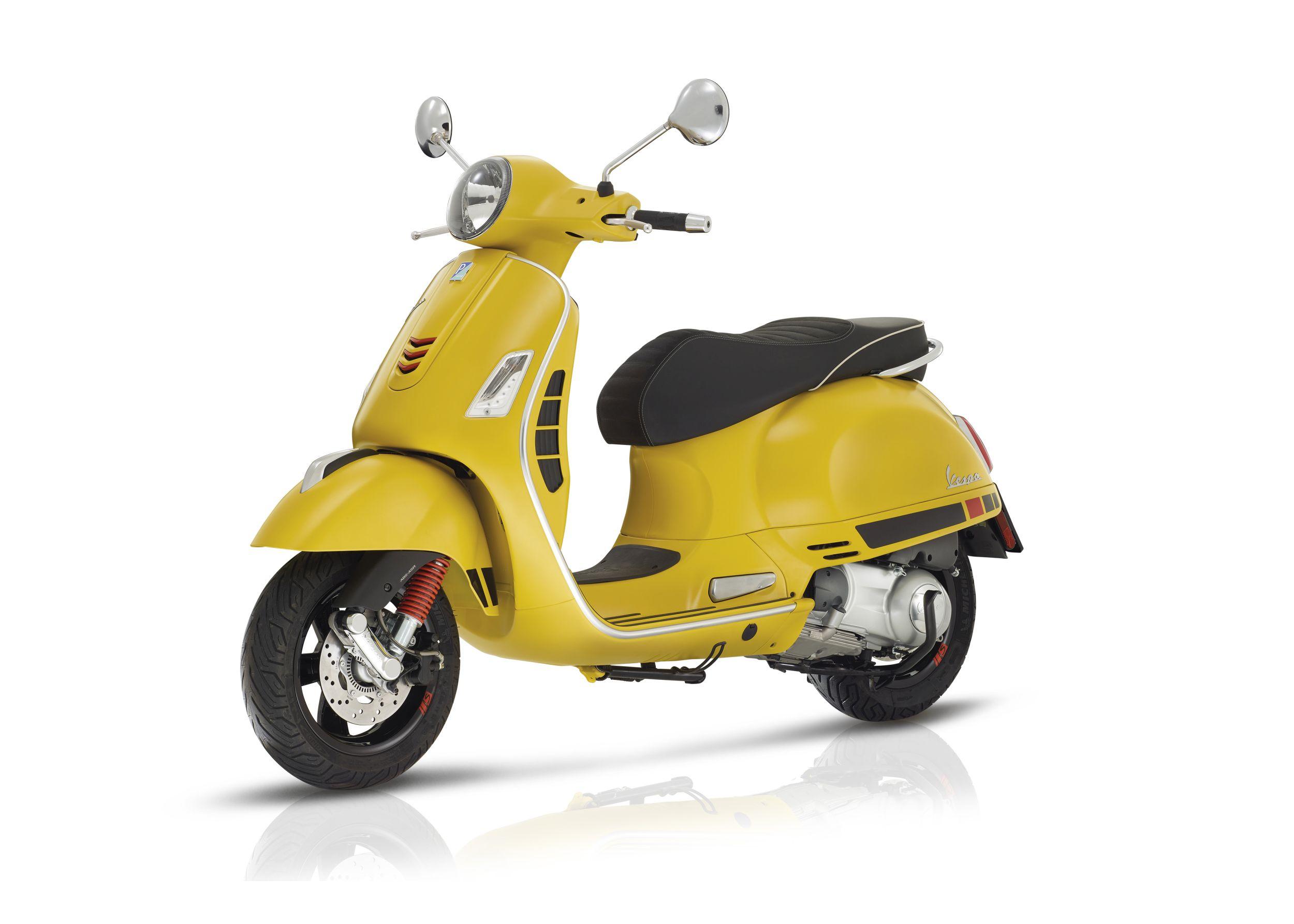 Vespa Yellow Bike