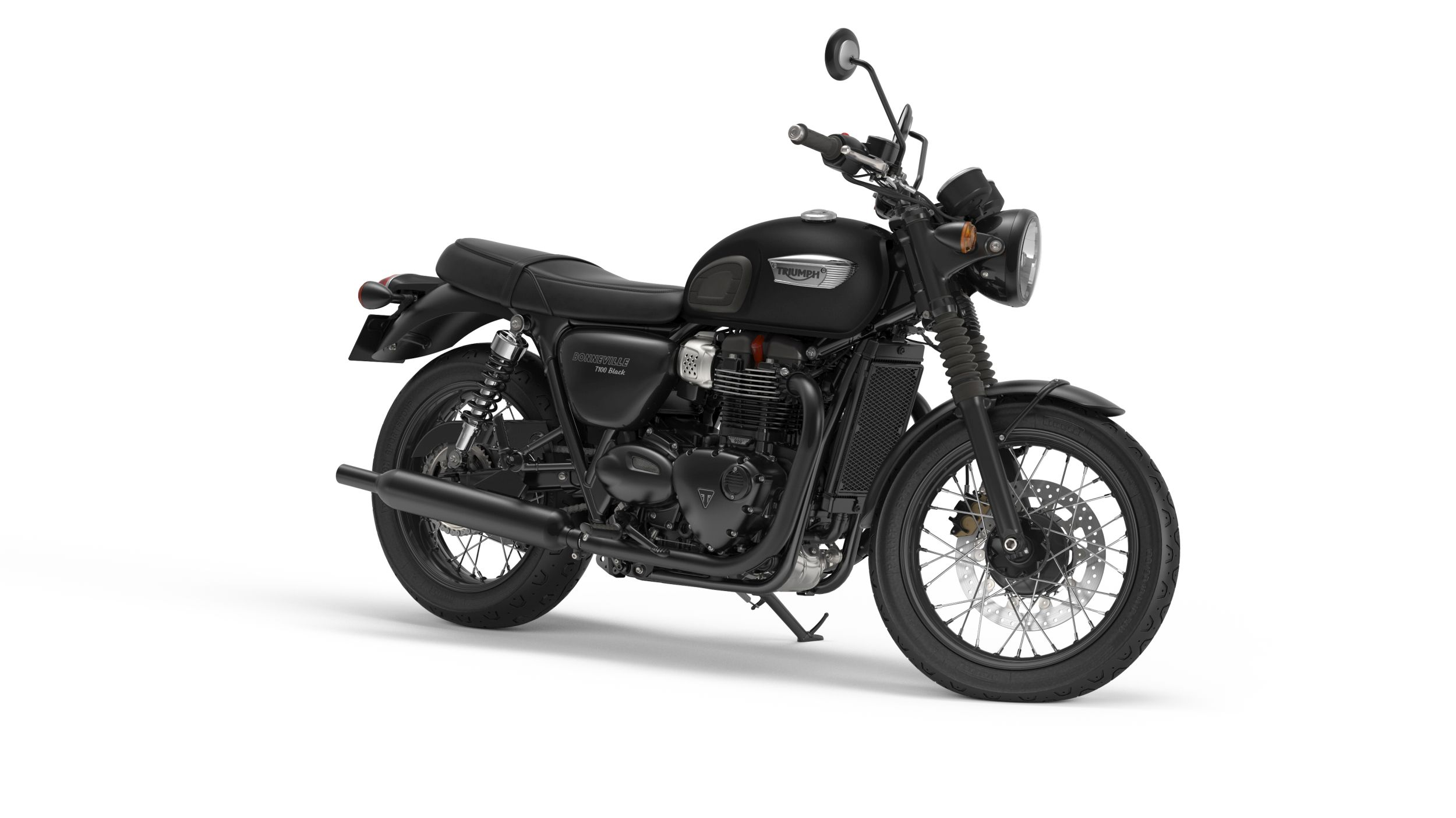 motorrad occasion triumph bonneville t100 black kaufen. Black Bedroom Furniture Sets. Home Design Ideas
