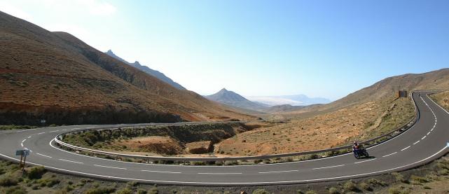 Lässige Kurve in Fuerteventura